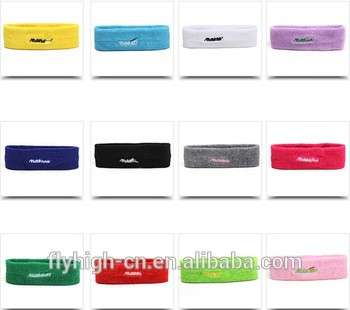 hot selling embroidery logo fabric sweatband for sport safety